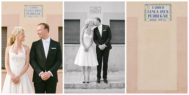 Hochzeitsfoto von Brautpaar bei 50er-Jahre-Hochzeit © Hochzeitsfotograf Berlin hochzeitslicht