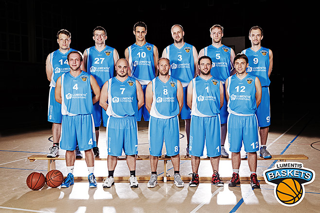 Gruppenfoto der Lumentis Baskets © Berliner Fotostudio LUMENTIS