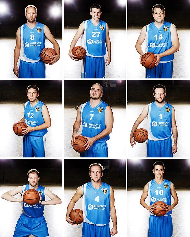 Portraitfotos der Mitglieder der Lumentis Baskets von Sportfotograf © Berliner Fotostudio LUMENTIS