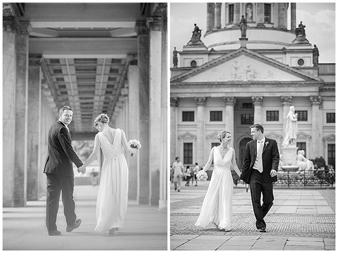 Brautpaarfotos bei Hochzeit am Gendarmenmarkt, Berlin-Mitte © Hochzeitsfotograf Berlin hochzeitslicht