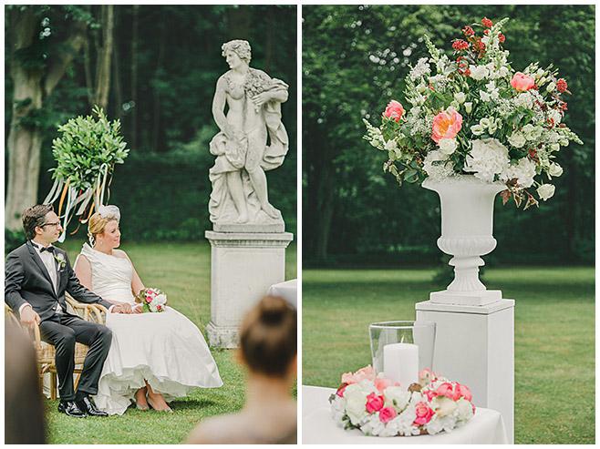 Elegantes vintage Hochzeitskonzept bei freier Trauung im Schlosspark Herzfelde © Hochzeitsfotograf Berlin hochzeitslicht