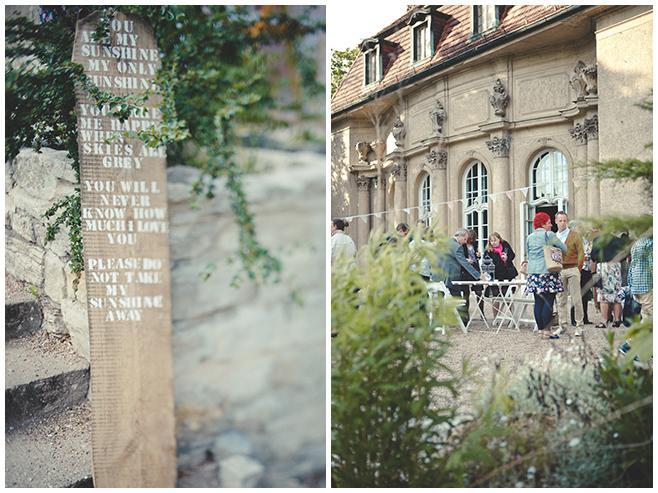 Selbstgemachtes Schild als Dekoration bei DIY-Hochzeit auf Schloss Marquardt in der Nähe von Berlin © Hochzeitsfotograf Berlin hochzeitslicht