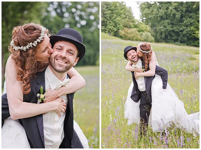 Brautpaar-Fotoshooting im Freien mit professioneller Hochzeitsfotografin Berlin © Hochzeitsfotograf Berlin www.hochzeitslicht.de