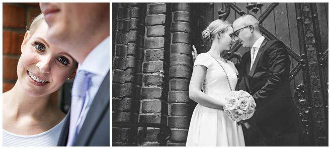 Brautpaar nach standesamtlicher Trauung vor dem Rathaus Schmargendorf, Berlin © Hochzeitsfotograf Berlin www.hochzeitslicht.de
