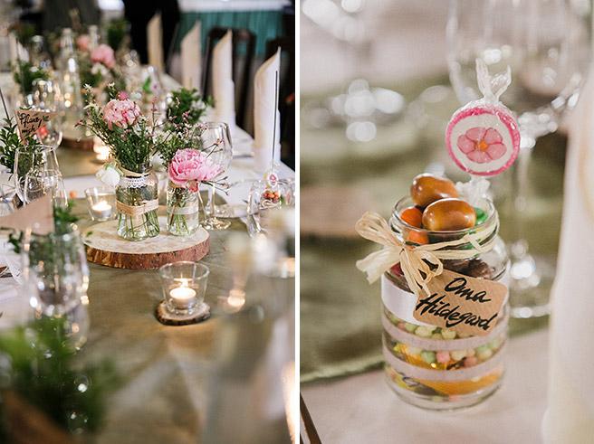 Detailaufnahmen der Hochzeitsdekoration bei DIY-Hochzeit im Kräutermühlenhof Spreewald © Hochzeitsfotograf Berlin www.hochzeitslicht.de