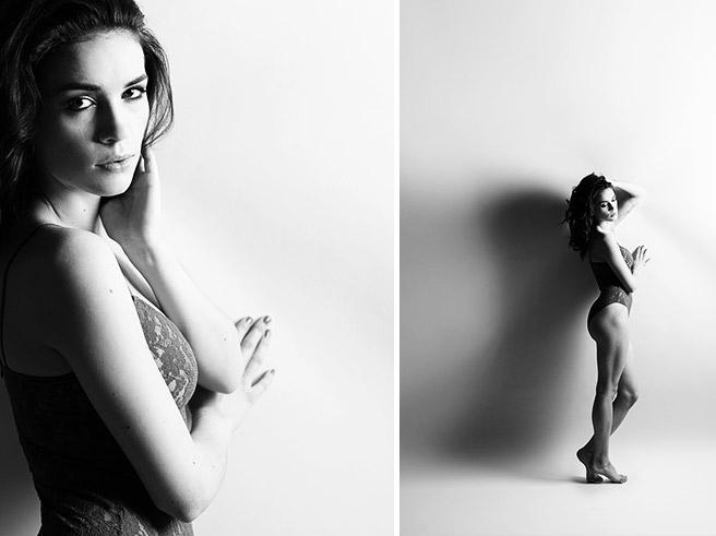 Sinnliche Schwarz-Weiß-Fotos in verführerischen Dessous bei erotischem Fotoshooting in Berlin © Fotostudio Berlin LUMENTIS