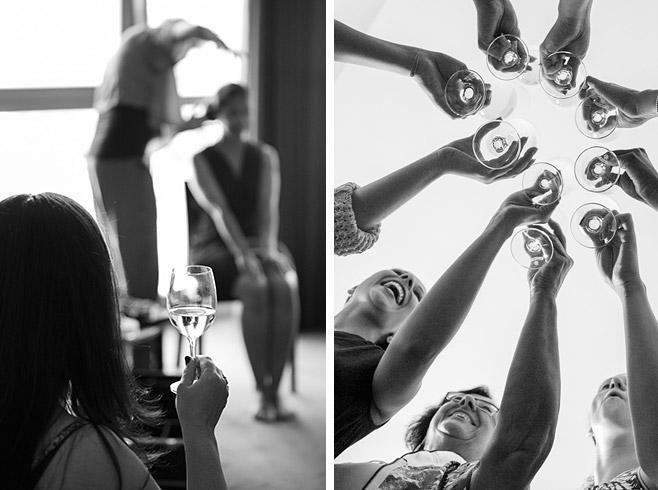 Hochzeitsreportage-Fotos vom Getting Ready der Braut mit einigen Gästen im Adina Apartment Hotel in Berlin-Mitte © Hochzeitsfotograf Berlin www.hochzeitslicht.de