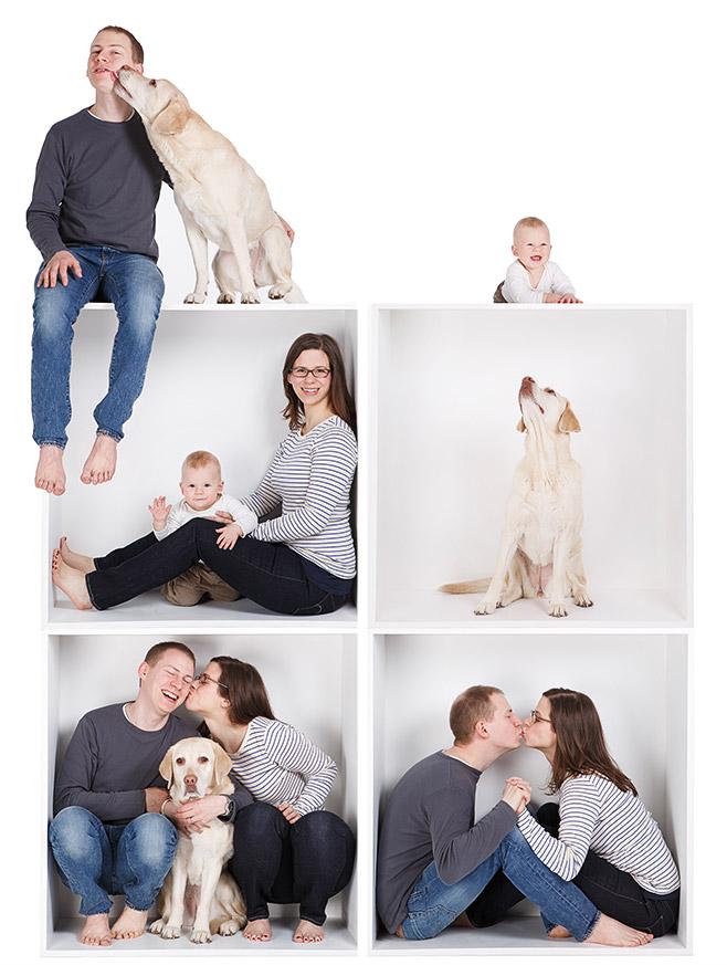 Familienfoto Collage aufgenommen in Fotostudio Berlin von professionellem Familienfotografen © Fotostudio Berlin LUMENTIS