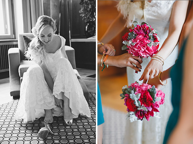 professionelle Hochzeitsfotos von Braut mit Brautjungern bei Vorbereitungen auf Hochzeit im Hotel de Rome © Hochzeitsfotograf Berlin www.hochzeitslicht.de