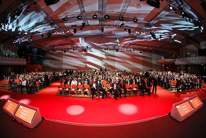Eventfoto von Publikum im Estrel Hotel Berlin bei Vodafone Veranstaltung aufgenommen von Eventfotograf Berlin © Fotostudio Berlin LUMENTIS