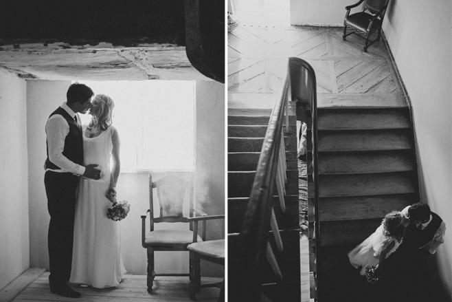 Idee für kreative schwarz-weiß Hochzeitsfotografien von Brautpaar bei Vintage-Hochzeit © Hochzeitsfotograf Berlin www.hochzeitslicht.de