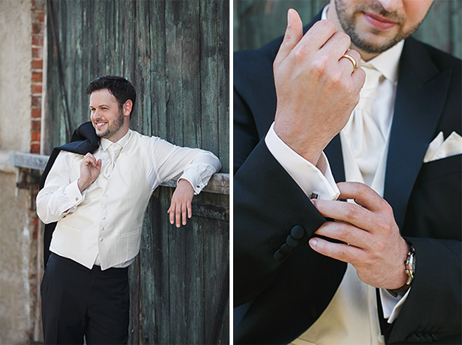 professionelle Hochzeitsfotos vom Bräutigam bei Hochzeit auf Schloss Ribbeck aufgenommen von professionellem Hochzeitsfotografen © Hochzeitsfotograf Berlin www.hochzeitslicht.de