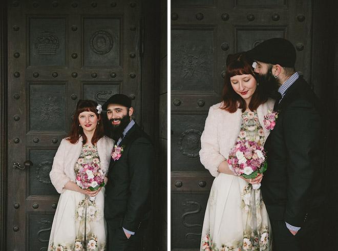 Hochzeitsfotos von Brautpaar bei Winterhochzeit in Berlin © Hochzeitsfotograf Berlin www.hochzeitslicht.de