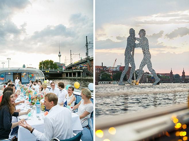 Fotografie von Hochzeitstag-Feier auf Boot in Berlin-Friedrichshain © Fotostudio Berlin LUMENTIS