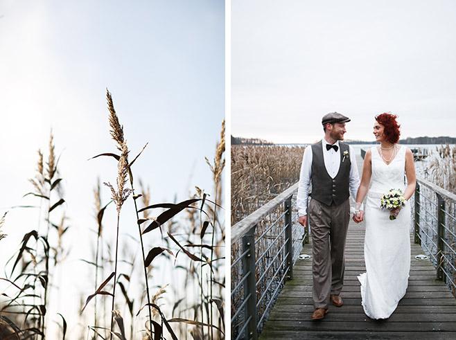 Hochzeitsfotos bei Brautpaar-Fotoshooting am Scharmützelsee bei Hochzeit in der Villa Contessa in Bad Saarow © Hochzeitsfotograf Berlin www.hochzeitslicht.de