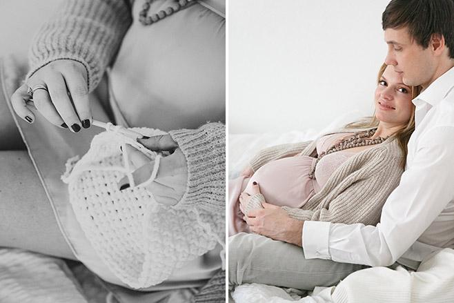 Authentische Babybauchfotos zu Hause in Berlin Prenzlauer Berg © Fotostudio Berlin LUMENTIS