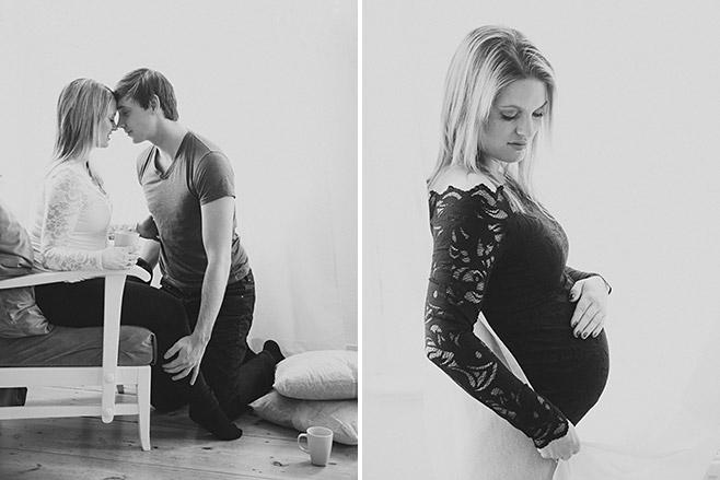 Natürliche Babybauch-Fotografie zu Hause von Berliner Fotostudio in Nähe Prenzlauer Berg © Fotostudio Berlin LUMENTIS