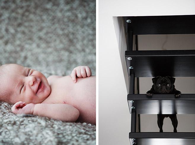 Authentische Babyfotos aufgenommen bei Neugeborenen-Fotoshooting zu Hause von professionellem Babyfotograf Berlin © Fotostudio Berlin LUMENTIS