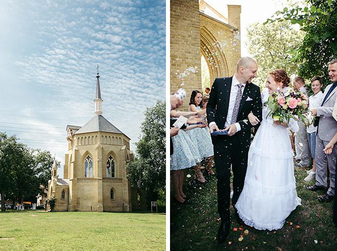 Professionelle Hochzeitsfotos bei Hochzeit in Alter Neuendorfer Kirche in Potsdam Babelsberg © Hochzeitsfotograf Berlin www.hochzeitslicht.de